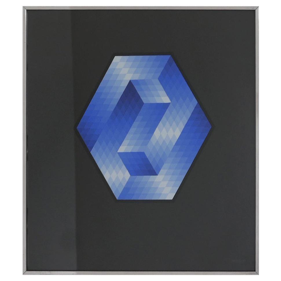 Late 20th Century Geometric Framed Artwork