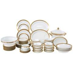 Late 20th Century Gilt Porcelain Dinner Service for Twelve