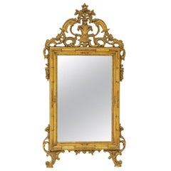 Late 20th Century Giltwood Louis XV Style Hall Mirror