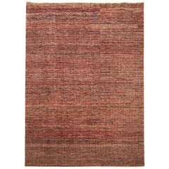 Late 20th Century Hand Knotted Rug in Brown, Red, Garnet and Yellow