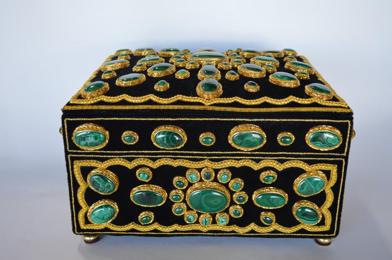 Late 20th Century Handmade Jewelry Box In Excellent Condition For Sale In Los Angeles, CA