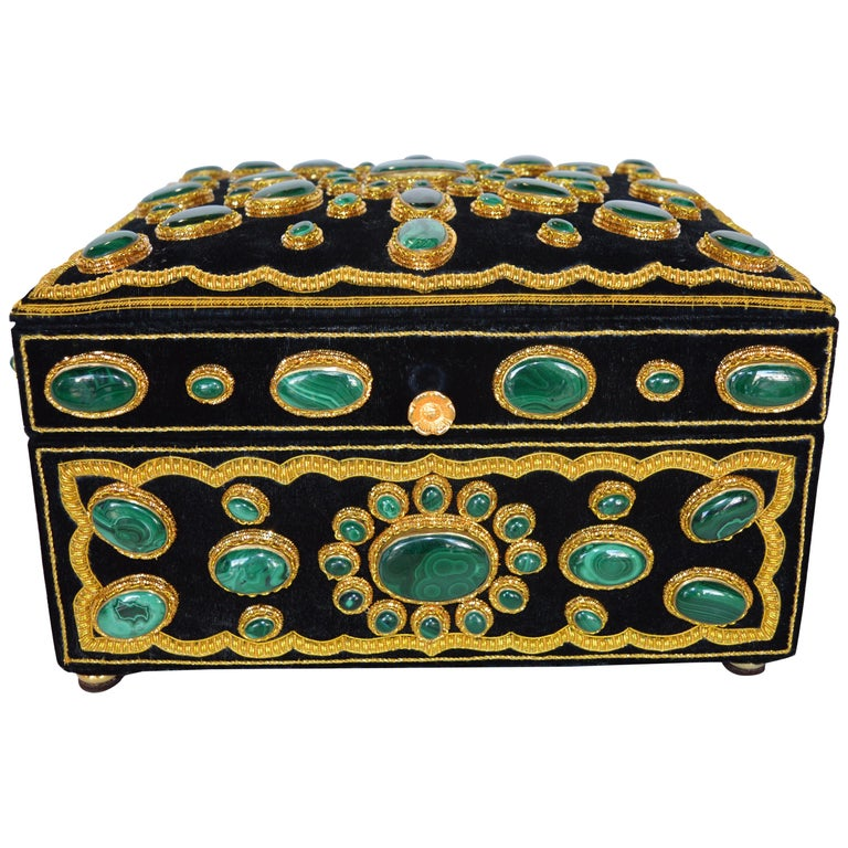 Late 20th Century Handmade Jewelry Box For Sale