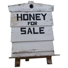 Late 20th Century Honey Producers Trade Sign Board