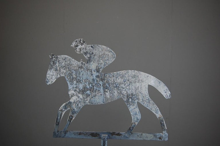 Late 20th Century Horse and Jockey Weathervane For Sale 1
