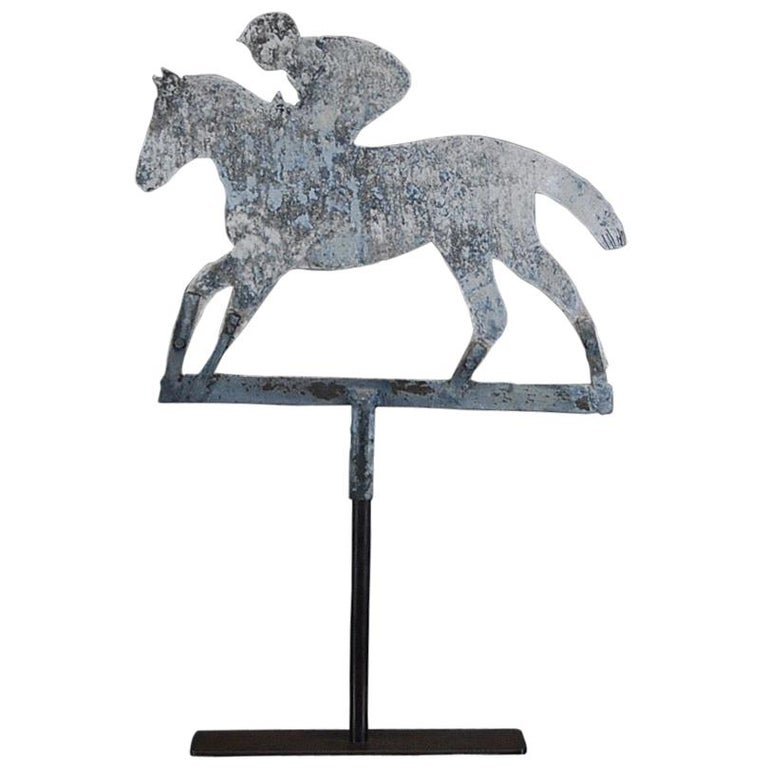 Late 20th Century Horse and Jockey Weathervane For Sale