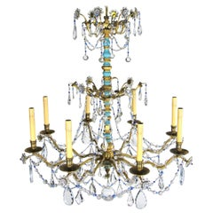 Late 20th Century Italian Eight-Light Chandelier