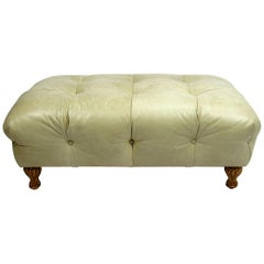 Late 20th Century Leather Ottoman