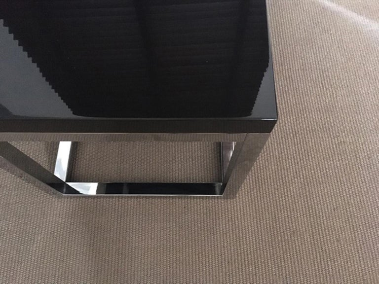 Late 20th Century London Pair Andrew Martin Metal Side Tables For Sale 4