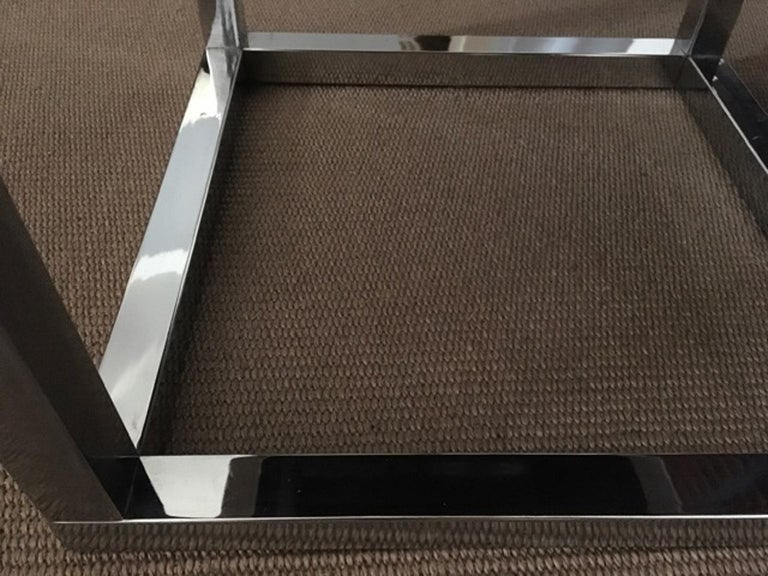 Late 20th Century London Pair Andrew Martin Metal Side Tables For Sale 7