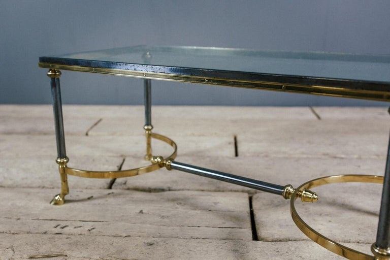 Brass Late 20th Century Maison Charles Hoof Foot Coffee Table For Sale