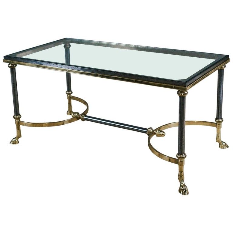Late 20th Century Maison Charles Hoof Foot Coffee Table For Sale