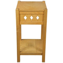 Late 20th Century Mission Arts & Crafts 2-Tier Square Ash Taboret Table Stand