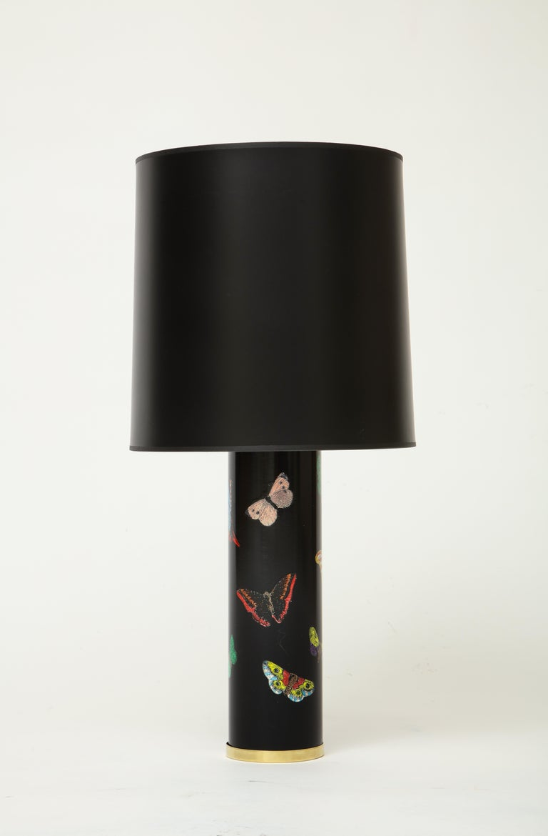 Mid-Century Modern Late 20th Century Pair Fornasetti Farfalle Butterfly Table Lamps, Italy For Sale