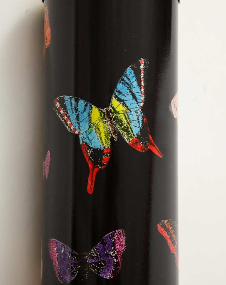 Late 20th Century Pair Fornasetti Farfalle Butterfly Table Lamps, Italy For Sale 2