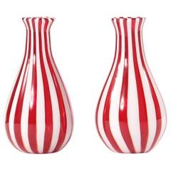 Late 20th Century Pair Murano Glass Vases / Pieces