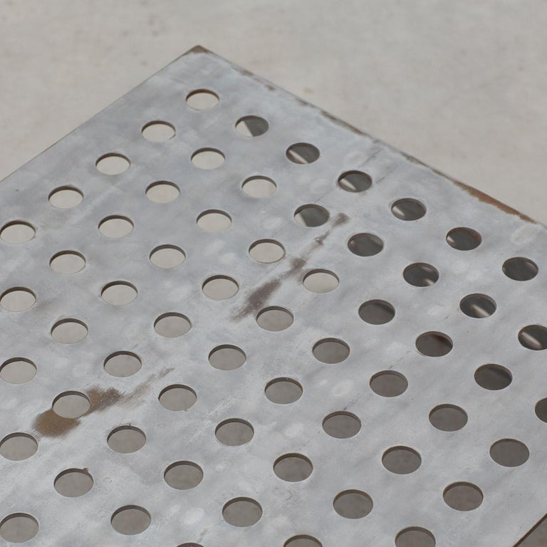 Late 20th Century Perforated Aluminum Metal Table 2
