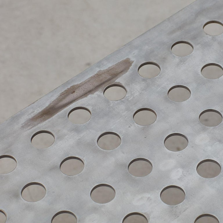 Late 20th Century Perforated Aluminum Metal Table 3