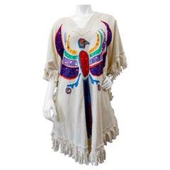 Late 20th Century Phoenix Applique´ Fringe Dress