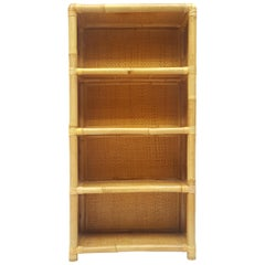 Late 20th Century Spanish Bamboo Bookcase, 1970s