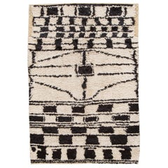 Late 20th Century Vintage Designed Moroccan Wool Rug