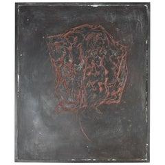"Late 20th Century Wall Art ""placenta"" by Danish Artist John Olsen, Juli 1991"