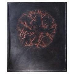 "Late 20th Century Wall Art ""Placenta"" by Danish Artist John Olsen, Juli, 1991"