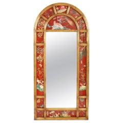 Late 20th Century Wood Framed Floor Length Beveled Mirror
