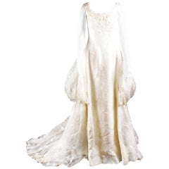 Late 80'S Sarli white wedding dress