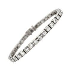 Late Art Deco 4.50 Total Carat Diamond Line Bracelet