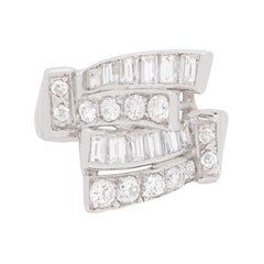 Late Art Deco Bespoke Diamond Cluster Ring, circa 1930s