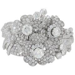Late Art Deco Platinum Diamond Bracelet