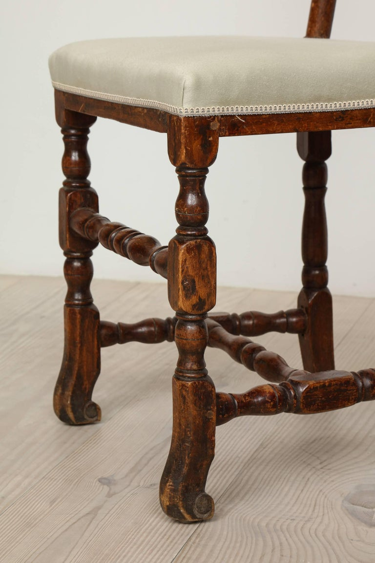 A Pair of Late Baroque Swedish Chairs, Origin: Sweden, Circa 1750-1760 For Sale 5