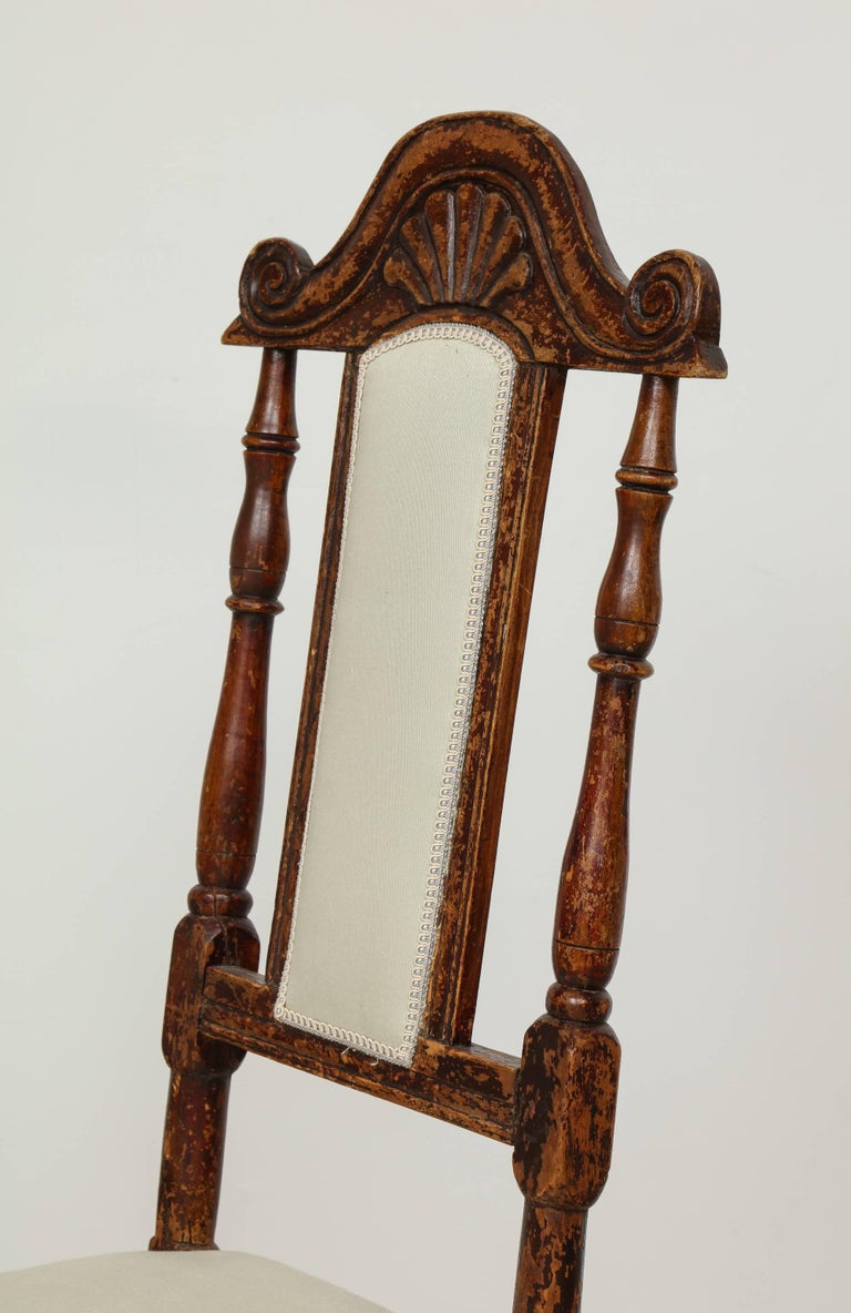 A Pair of Late Baroque Swedish Chairs, Origin: Sweden, Circa 1750-1760 In Excellent Condition For Sale In New York, NY