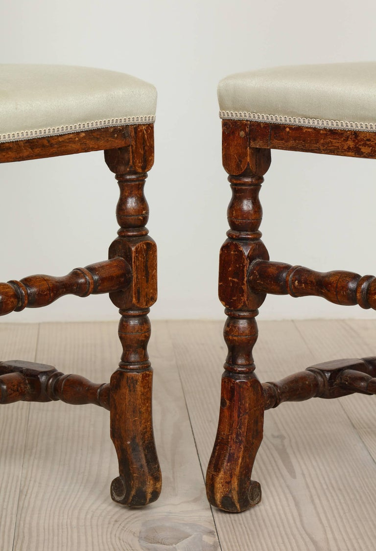 18th Century and Earlier A Pair of Late Baroque Swedish Chairs, Origin: Sweden, Circa 1750-1760 For Sale