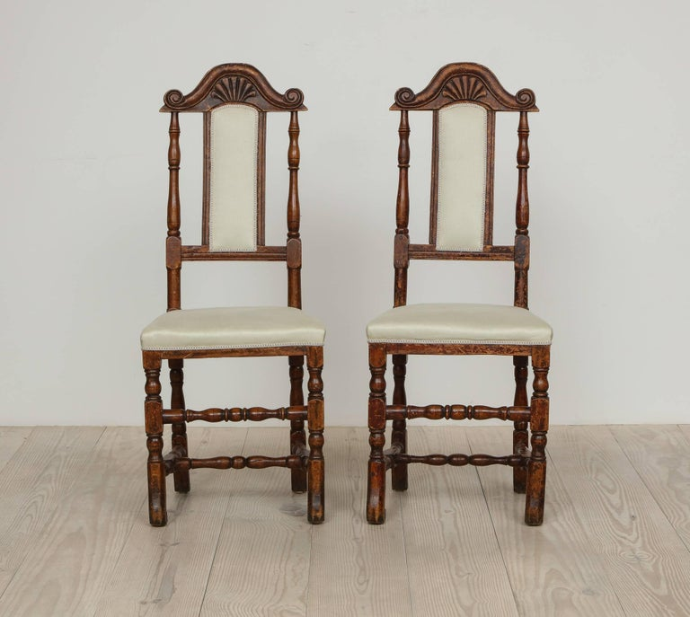 Wood A Pair of Late Baroque Swedish Chairs, Origin: Sweden, Circa 1750-1760 For Sale