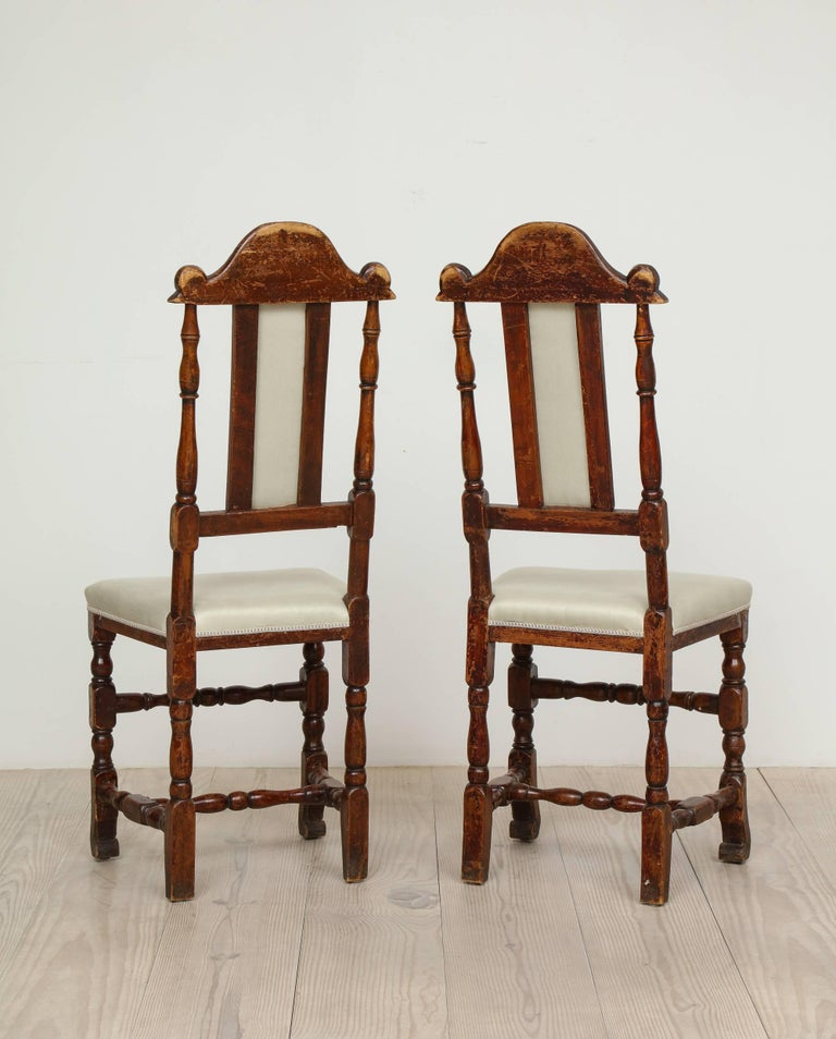 A Pair of Late Baroque Swedish Chairs, Origin: Sweden, Circa 1750-1760 For Sale 1