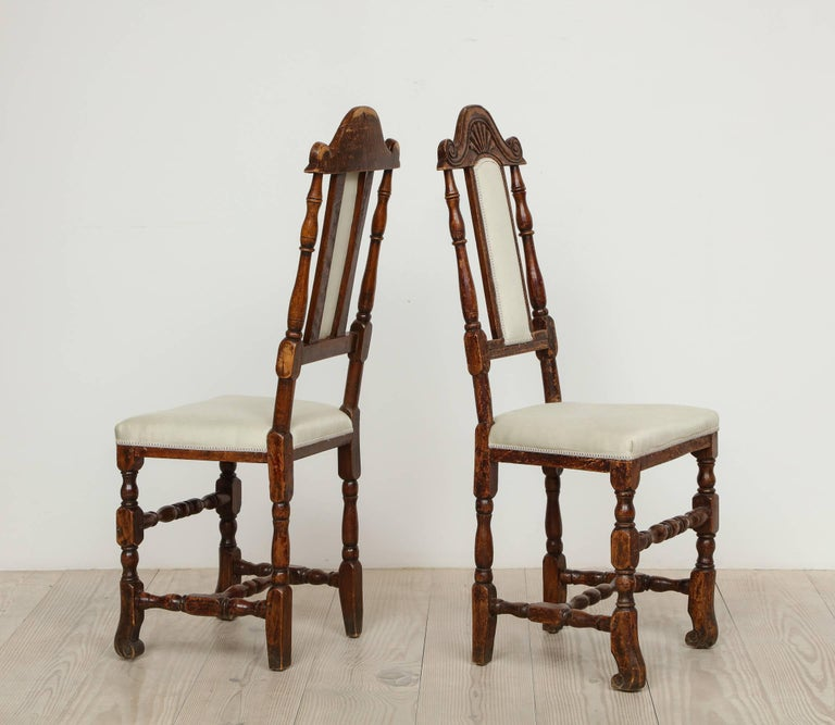 A Pair of Late Baroque Swedish Chairs, Origin: Sweden, Circa 1750-1760 For Sale 2