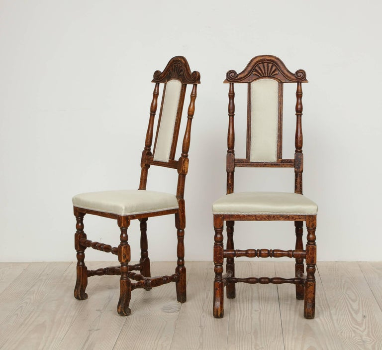 A Pair of Late Baroque Swedish Chairs, Origin: Sweden, Circa 1750-1760 For Sale 3