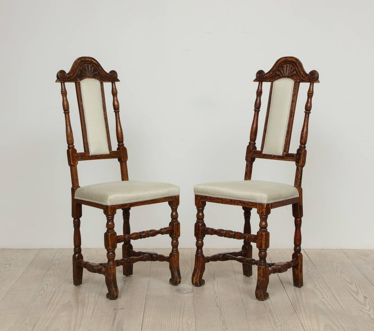 A Pair of Late Baroque Swedish Chairs, Origin: Sweden, Circa 1750-1760 For Sale 4