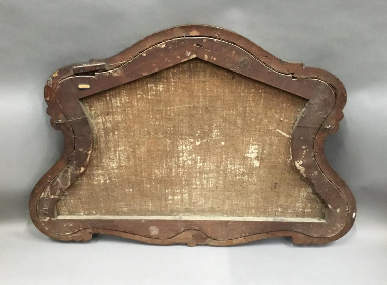 Late 18th Century Dutch Still Life Oil Painting of Unusual Cartouche Shape For Sale 8