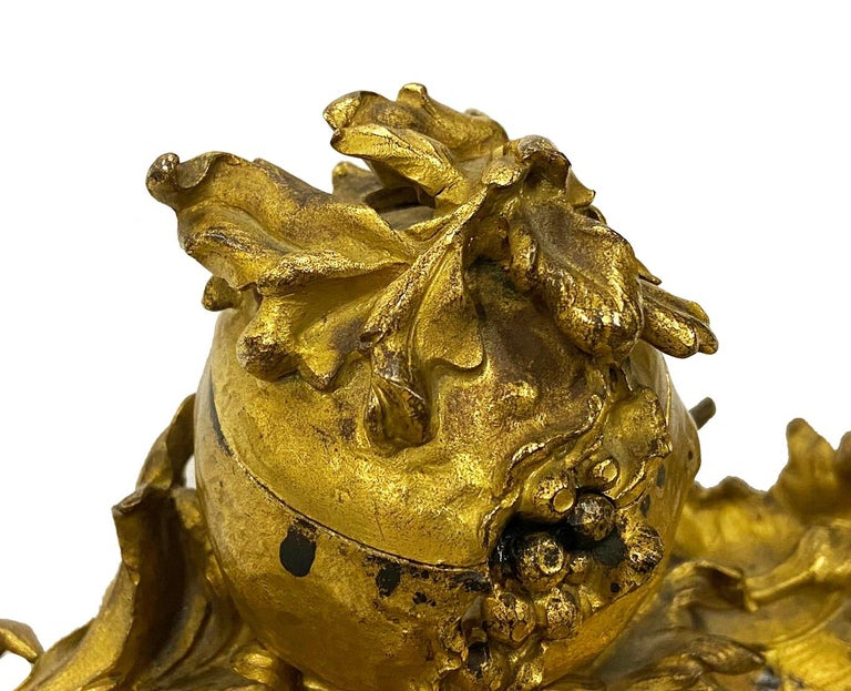 French Late 19th Century 'Somani' Ormolu Inkwell For Sale
