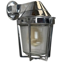 Late Century American Cast Aluminum Sconce, Appleton Electric, Prismatic Glass