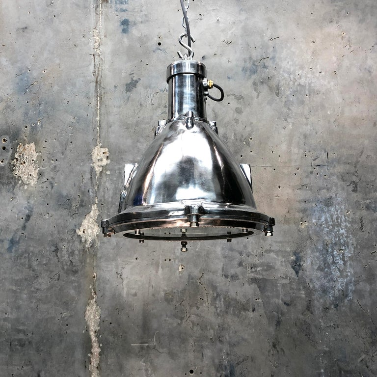 Late Century Industrial Cast Aluminum and Glass Deck Light by British Baliga For Sale 10
