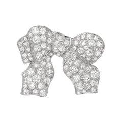 Late Deco Diamond Bow Pin