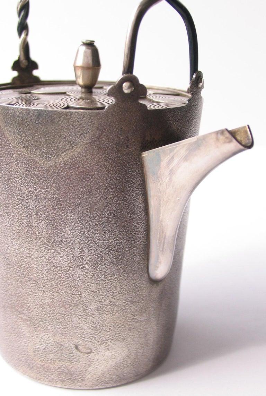 Late Edo- Early Meiji Period Silver Sake Bottle Pair by Nobuyuki Miyajima For Sale 7
