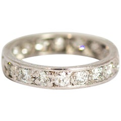 Late Edwardian Diamond Total 2 Carat and Platinum Eternity Band