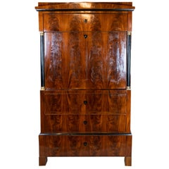 Late Empire Cabinet of Handpolished Mahogany and of Cherry on the Inside, 1840