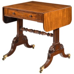 Late George III Mahogany Sofa Table of Small Proportions