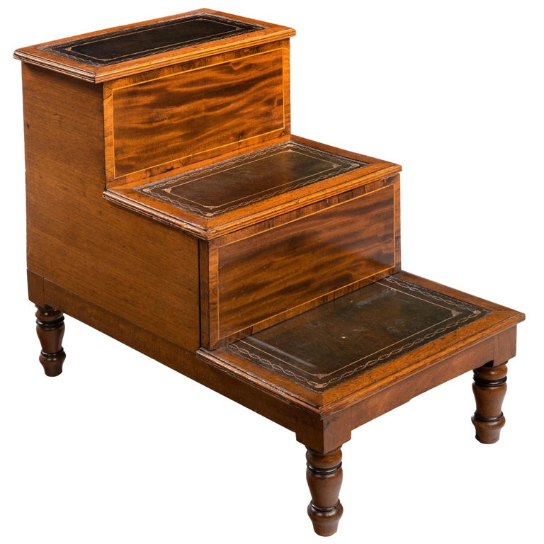 Late George III Period Bed Step Commode 1