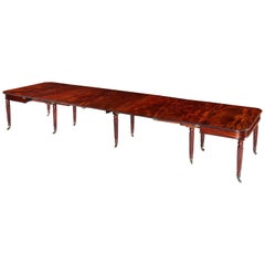 Late George III Regency Period Mahogany 'Imperial' Extending Dining Table